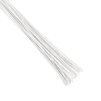 22 Gauge - White Floral Wire