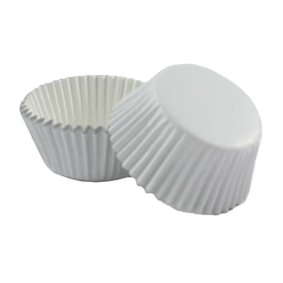 Large Foil Cupcake Papers - White