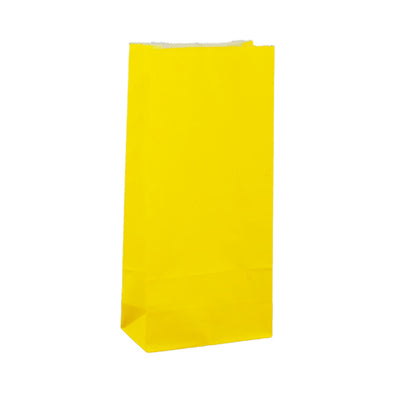 Paper Lolly Bag - Yellow- 10 Pack