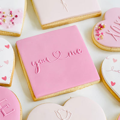 Reverse Cookie Embosser - You (heart) me
