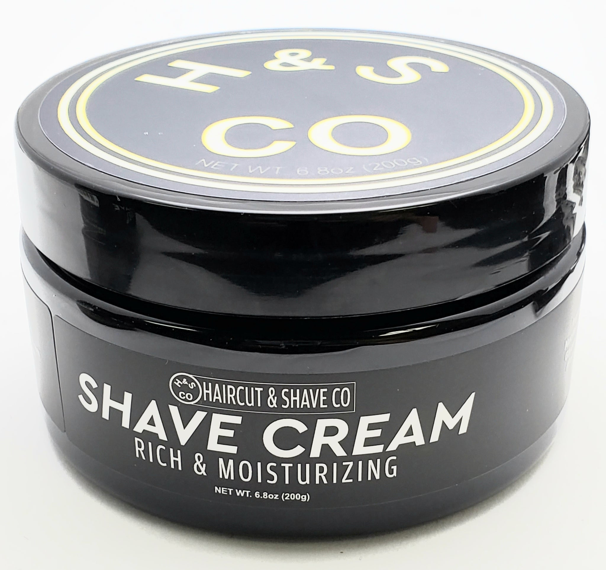 Haircut and Shave Co. Shave Cream Rich and Moisturizing.