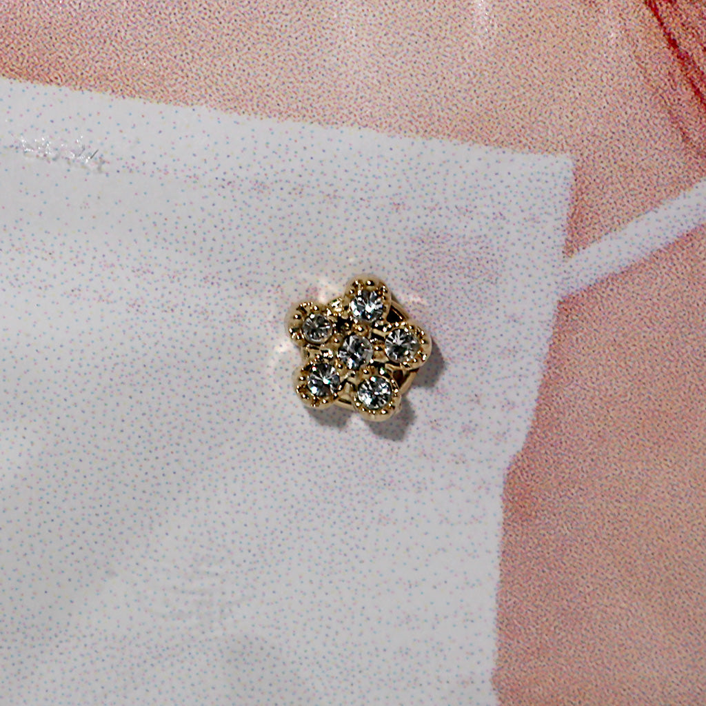 Face Mask Charm - Rhinestone Flower
