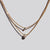 Two Layered Gold Tone Necklace with Pearl/Rhinestone Pendant