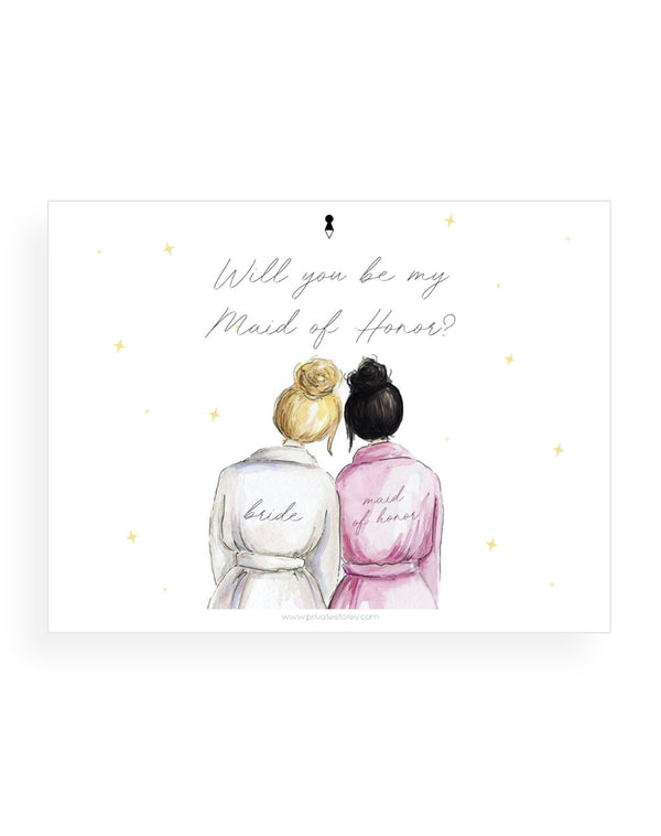 Maid of Honor Notecard