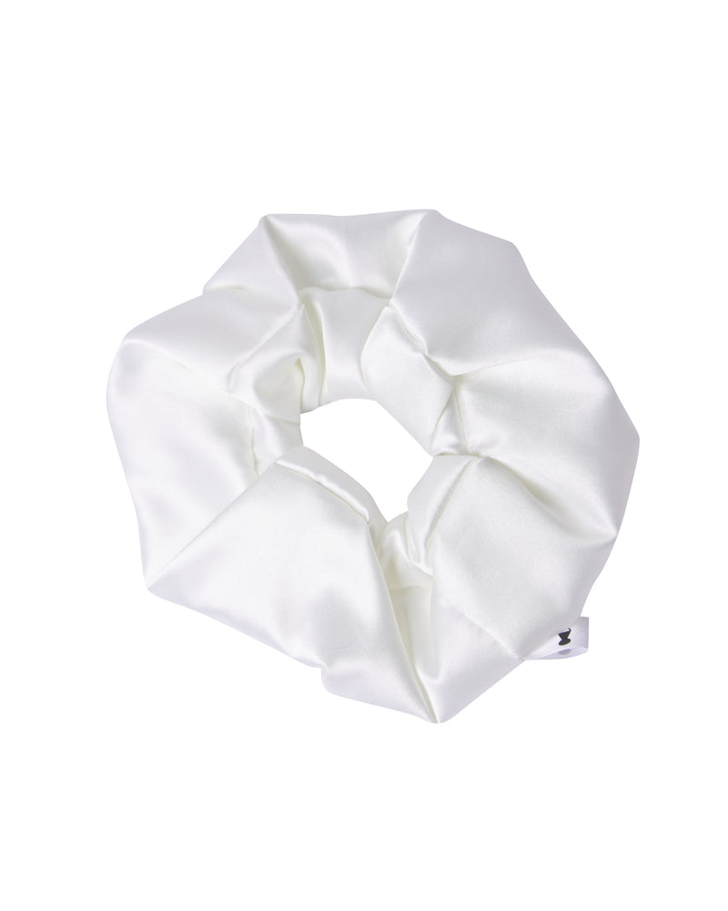 Matte Off White Scrunchie