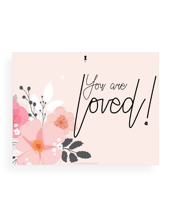 You Are Loved Peach Notecard