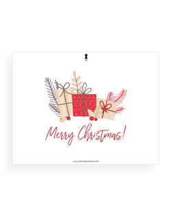 Merry Christmas with Presents Card