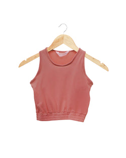 Terracotta Ribbed Crop top