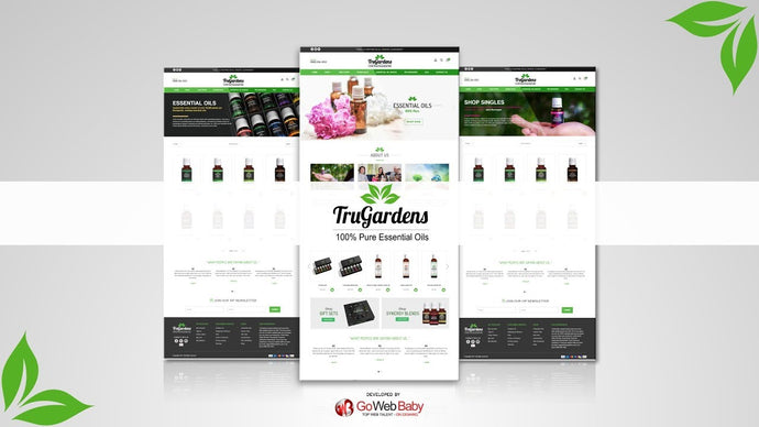 Essential Oil Web Templates Designed By Store GoWebBaby
