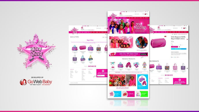 Spa Party Web Template Designed By Store GoWebBaby