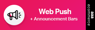 Web Push + Announcement Bar