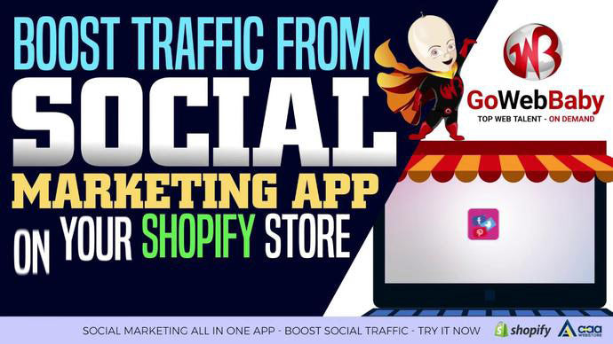 Boost traffic from Social Marketing App - Shopify App