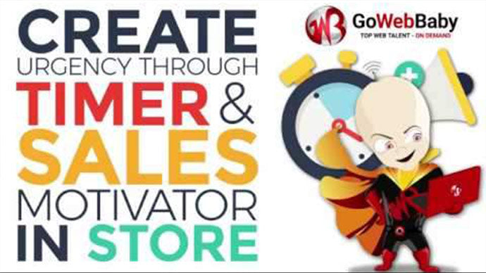 Create Urgency through Timer and Sales Motivator on Store