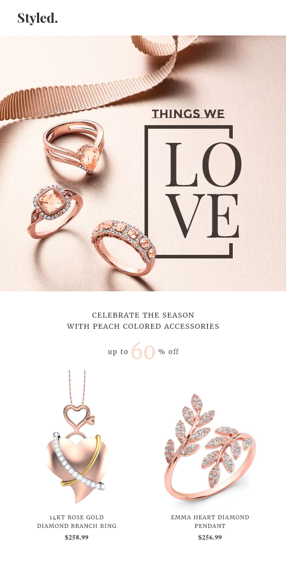 Jewelry Shopify Store eCommerce Email Template
