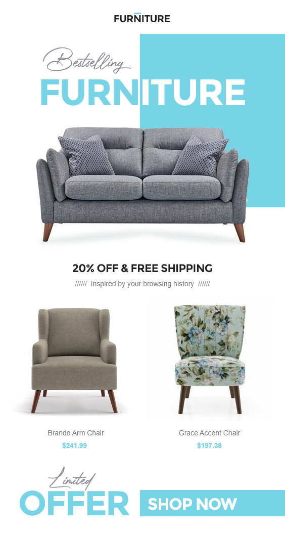 Furniture Shop Shopify Store eCommerce Email Template