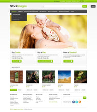 Stock Images Photography Magento Website Design - GoWebBaby.Com