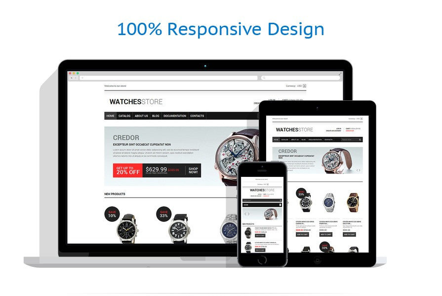 Watches Responsive Shopify Theme - GoWebBaby.Com