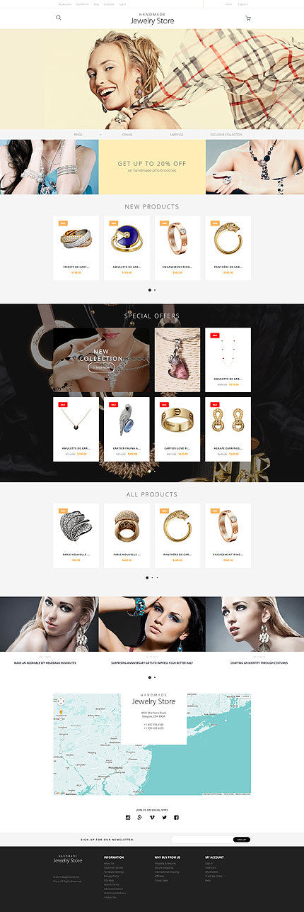 Handmade Jewelry Magento Website Design - GoWebBaby.Com