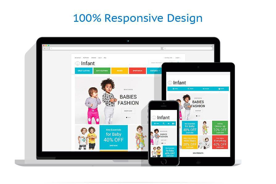 Baby Fashion Magento Website Design - GoWebBaby.Com