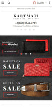 Belts and Wallets Magento Website Design - GoWebBaby.Com