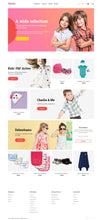 Kids Kiddo Clothing Magento Website Design - GoWebBaby.Com