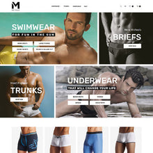 Mens Swimming Clothing - Magento Website Design - GoWebBaby.Com