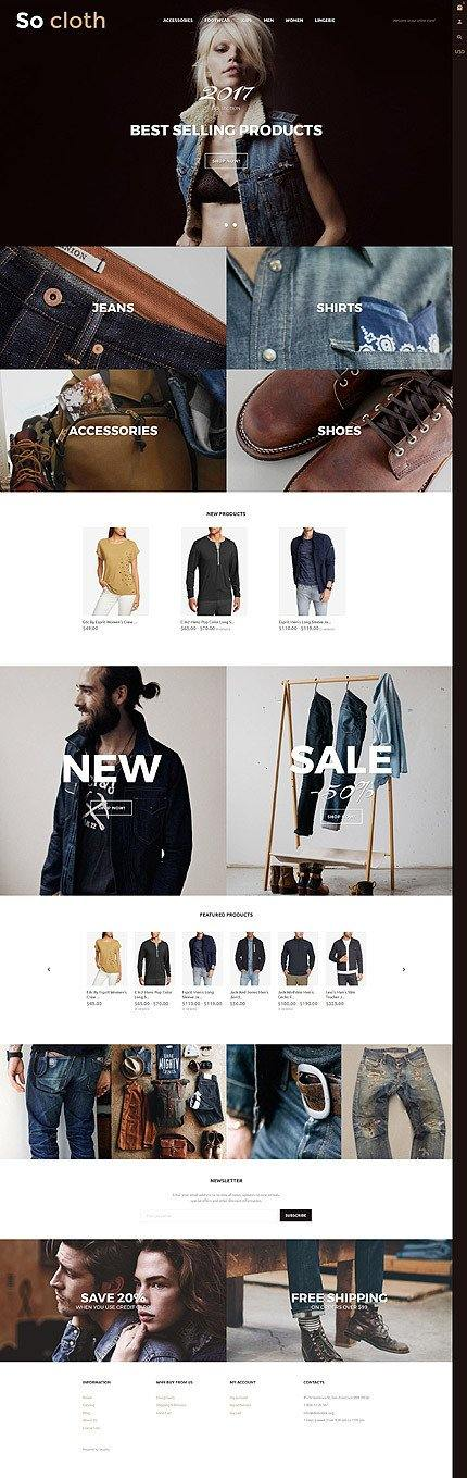 Clothing Products - Shopify Themes - GoWebBaby.Com