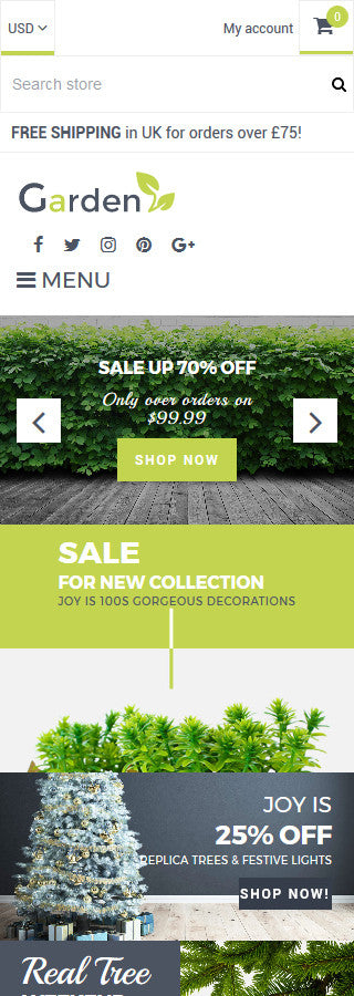 Garden Products Website - Shopify Themes – GoWebBaby.Com