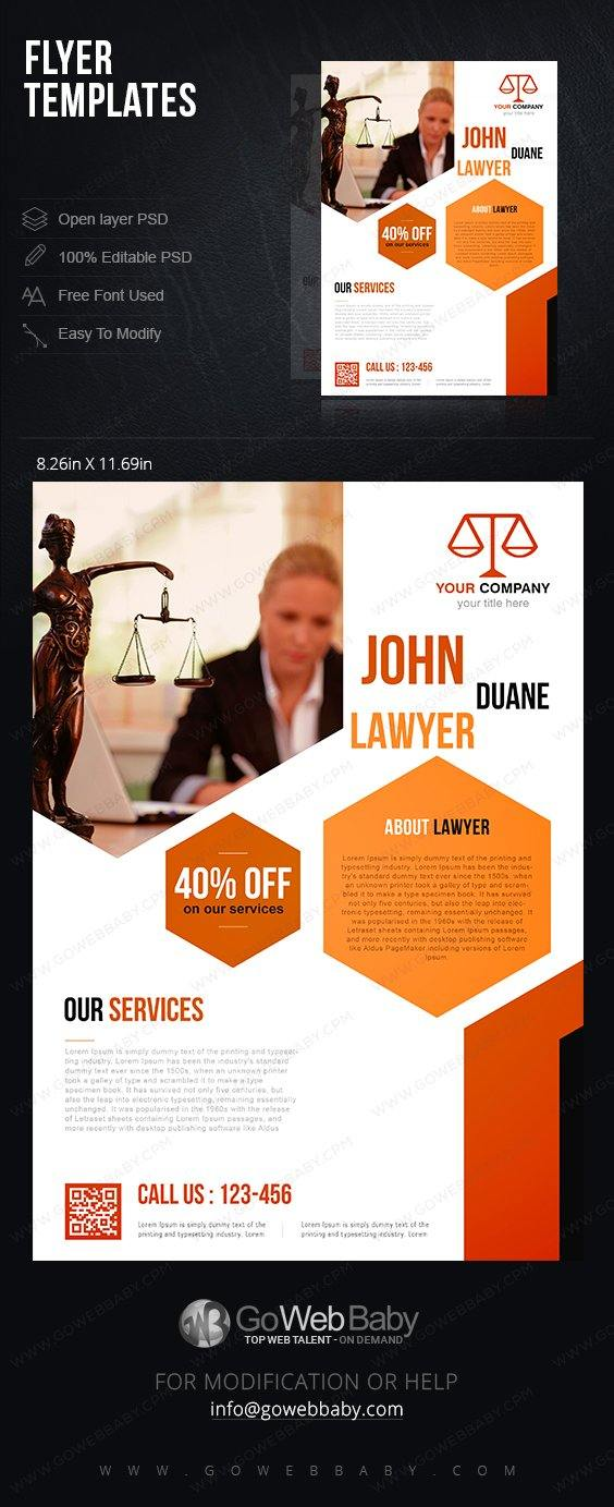 Flyer Templates - Business Lawyer For Website Marketing - GoWebBaby.Com