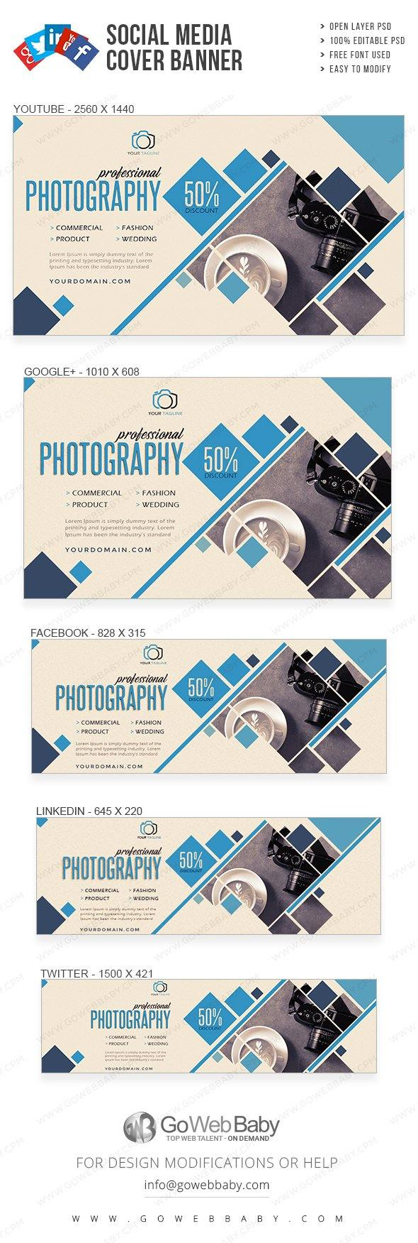Social Media Cover Banner - Photography For Website Marketing