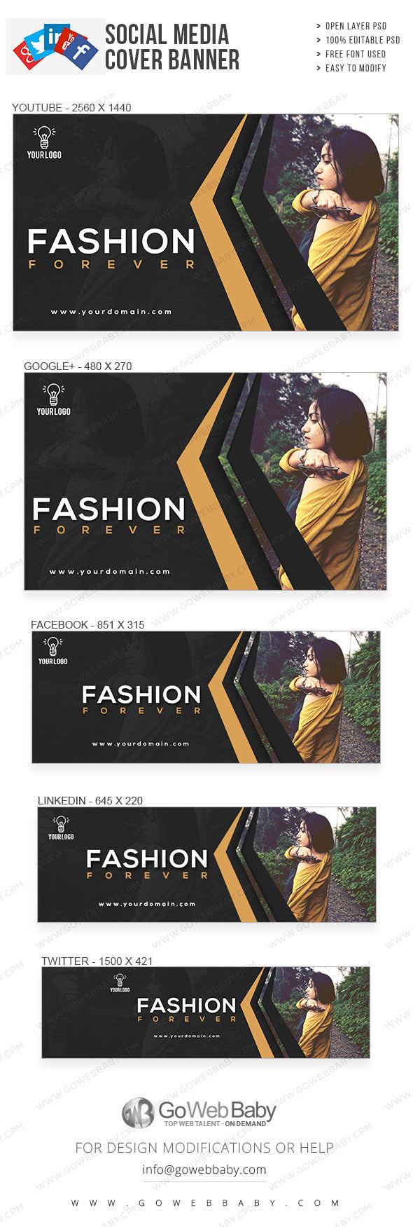Latest Fashion Social Media Covers For Website Marketing - GoWebBaby.Com