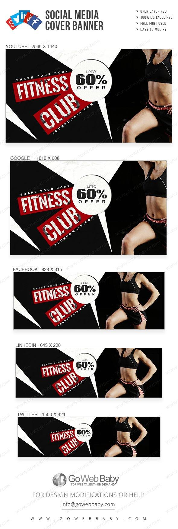 Social Media Cover Banner - Women's Fitness For Website Marketing