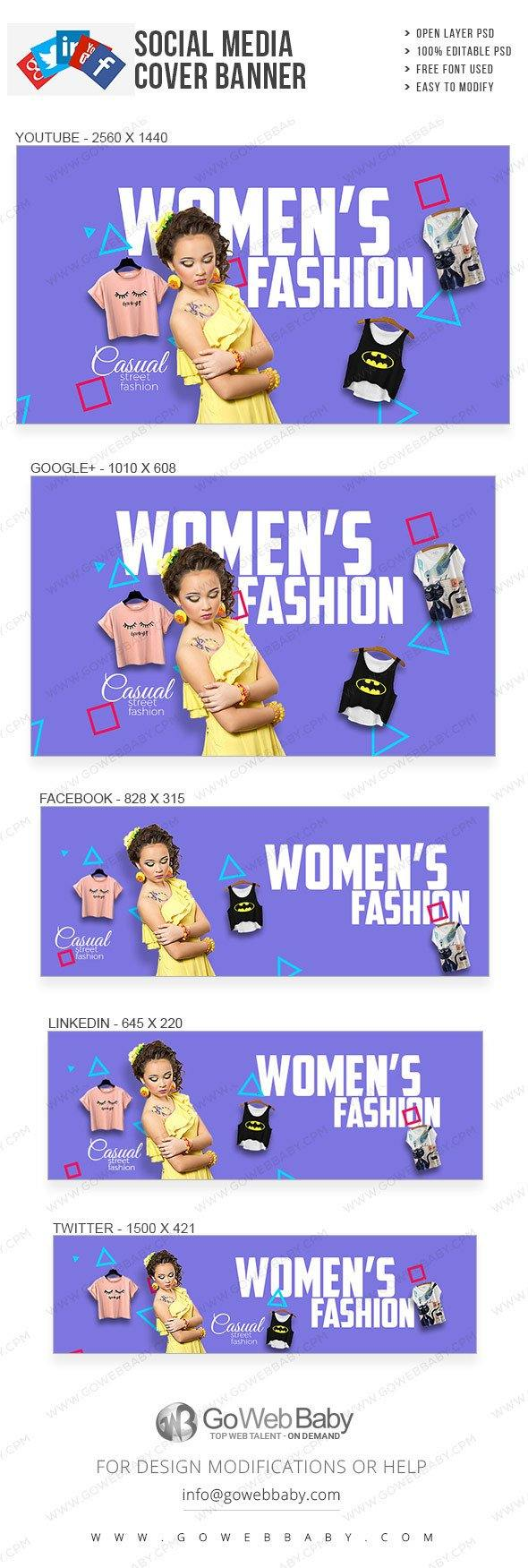 Social Media Cover Banner - Women's Trends For Website Marketing