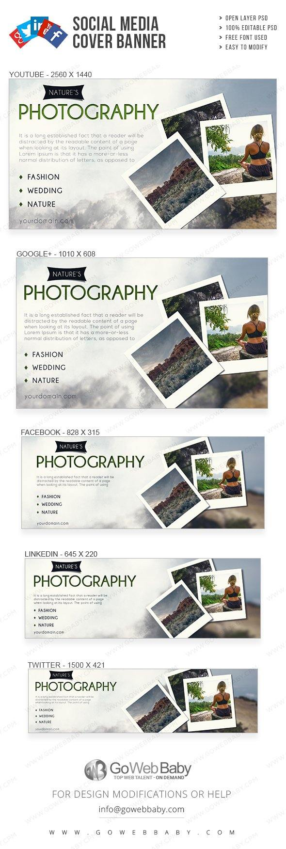 Social Media Cover Banner - Nature's Photography For Website Marketing