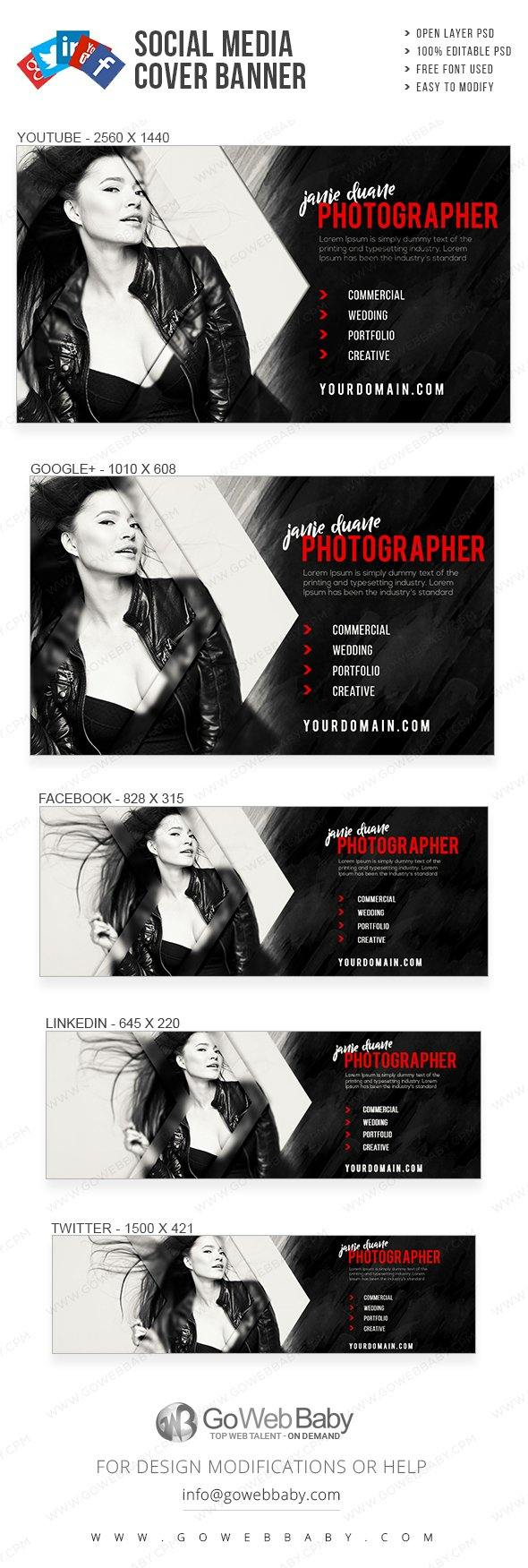 Social Media Cover Banner - Creative Photography For Website Marketing