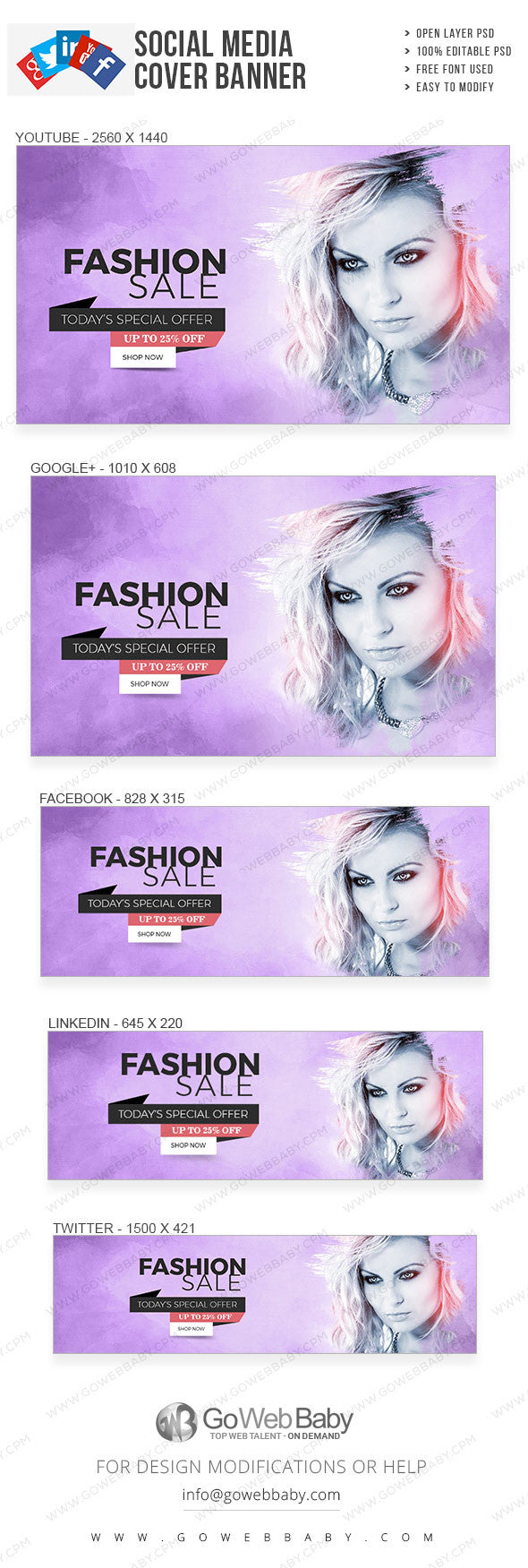 Social Media Cover Banner - Women's fashion for website marketing