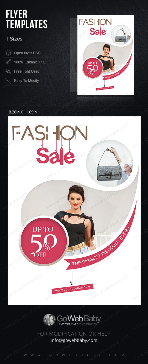 Flyer templates - Women's Fashion for website marketing - GoWebBaby.Com