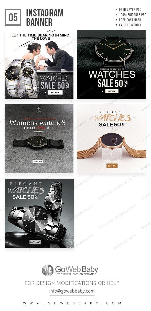 Instagram Ad Banners - Elegant Watches For Men