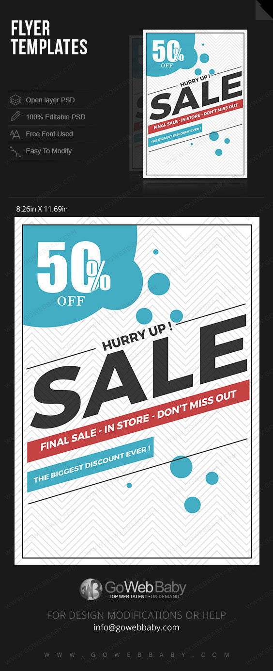 Flyer - Final sale for website marketing - GoWebBaby.Com