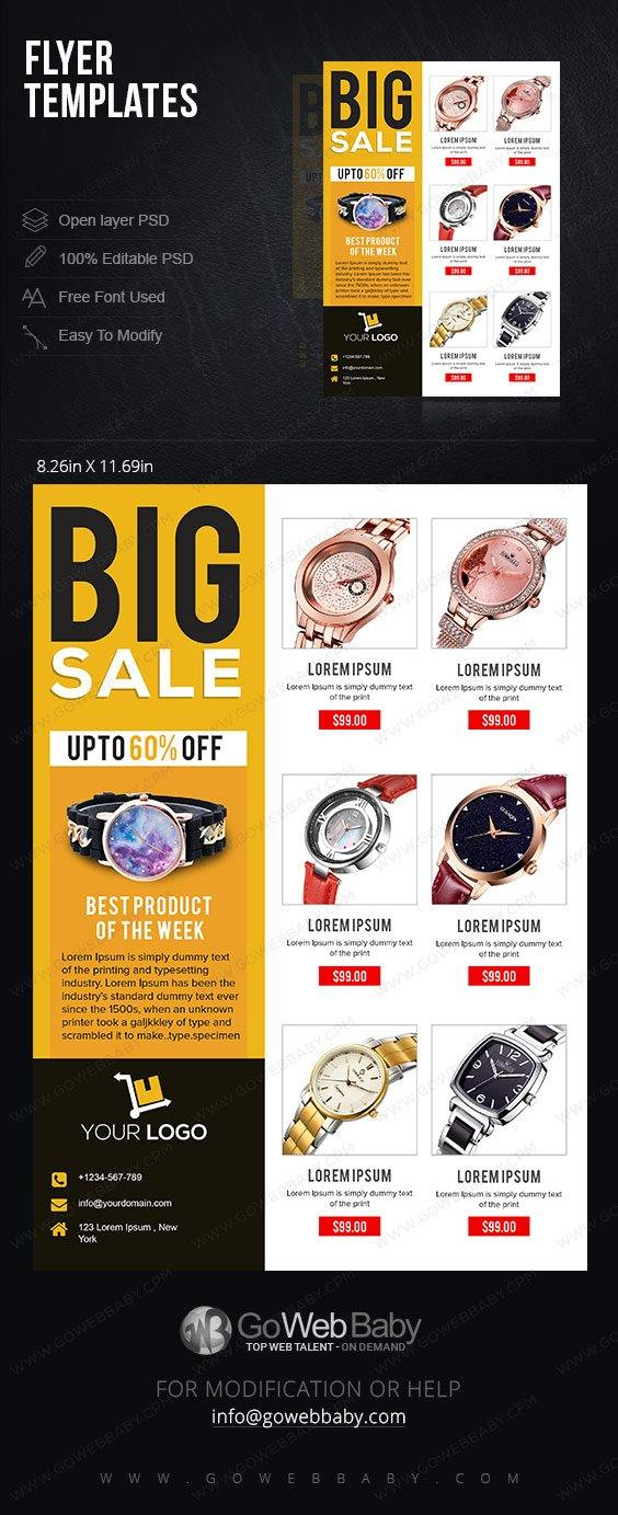 Flyer templates - Smart Watches For Website Marketing - GoWebBaby.Com