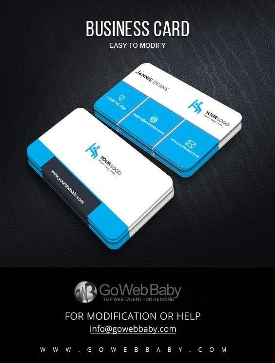 Business Card Design For Gym Fitness Store - GoWebBaby.Com
