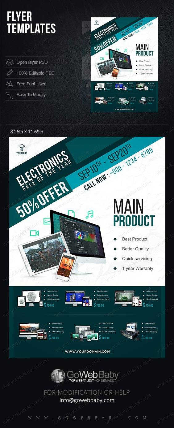 Flyer templates - Appliances for website marketing - GoWebBaby.Com