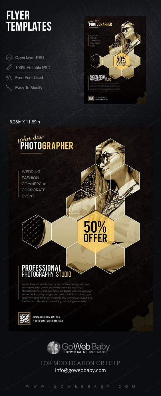 Flyer Templates - Fashion Photography For Website Marketing - GoWebBaby.Com