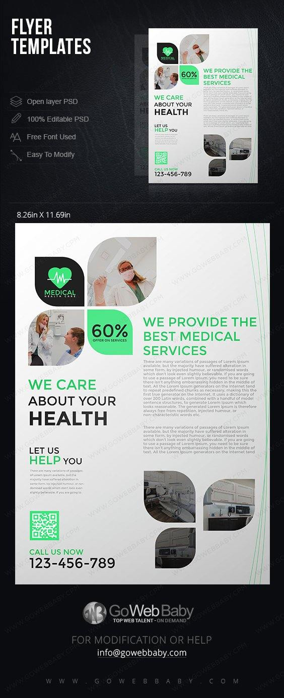 Flyer Templates -Healthcare For Website Marketing - GoWebBaby.Com