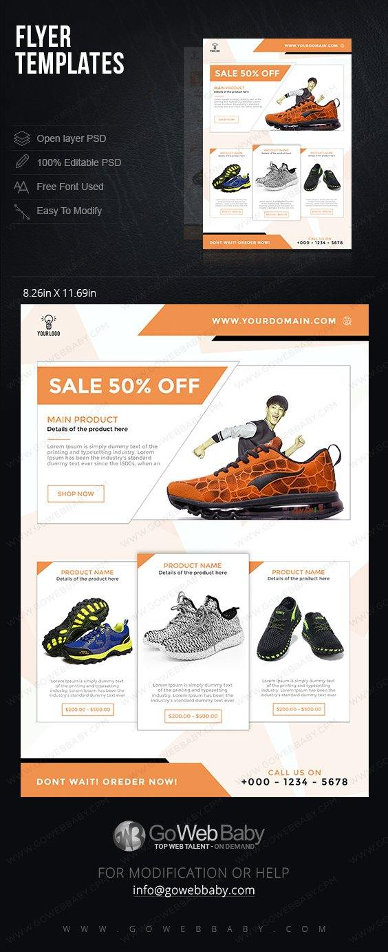 Flyer Templates - Classic Shoes For Website Marketing - GoWebBaby.Com