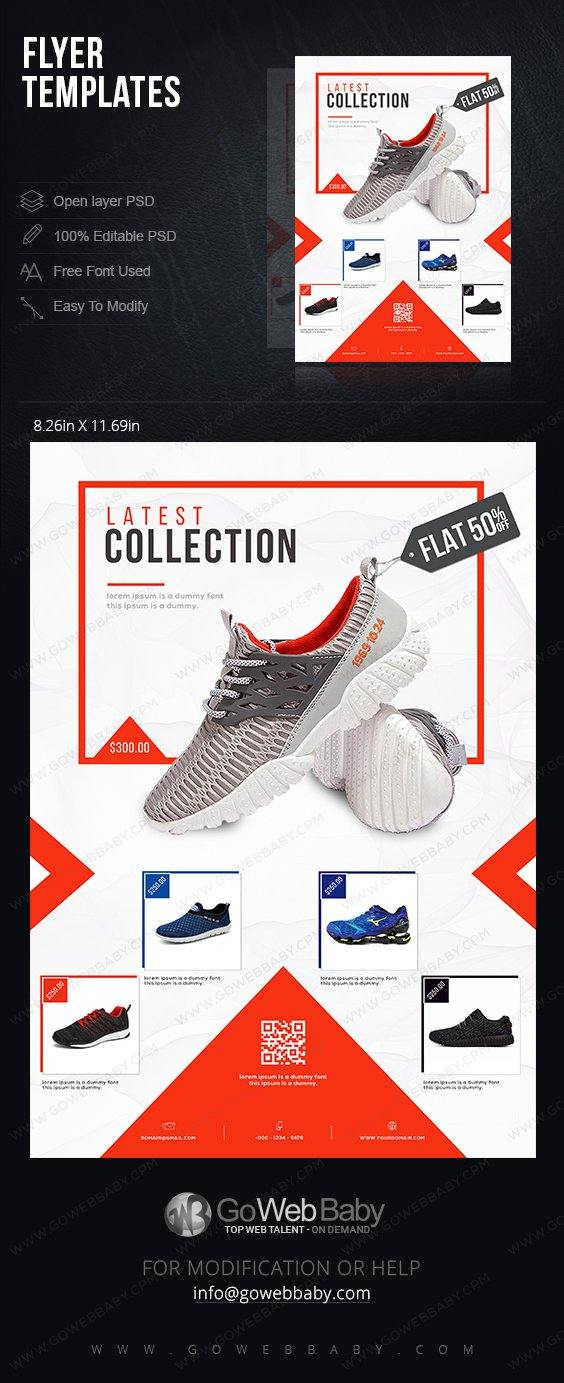 Flyer Templates - Shoes for Men For Website Marketing - GoWebBaby.Com