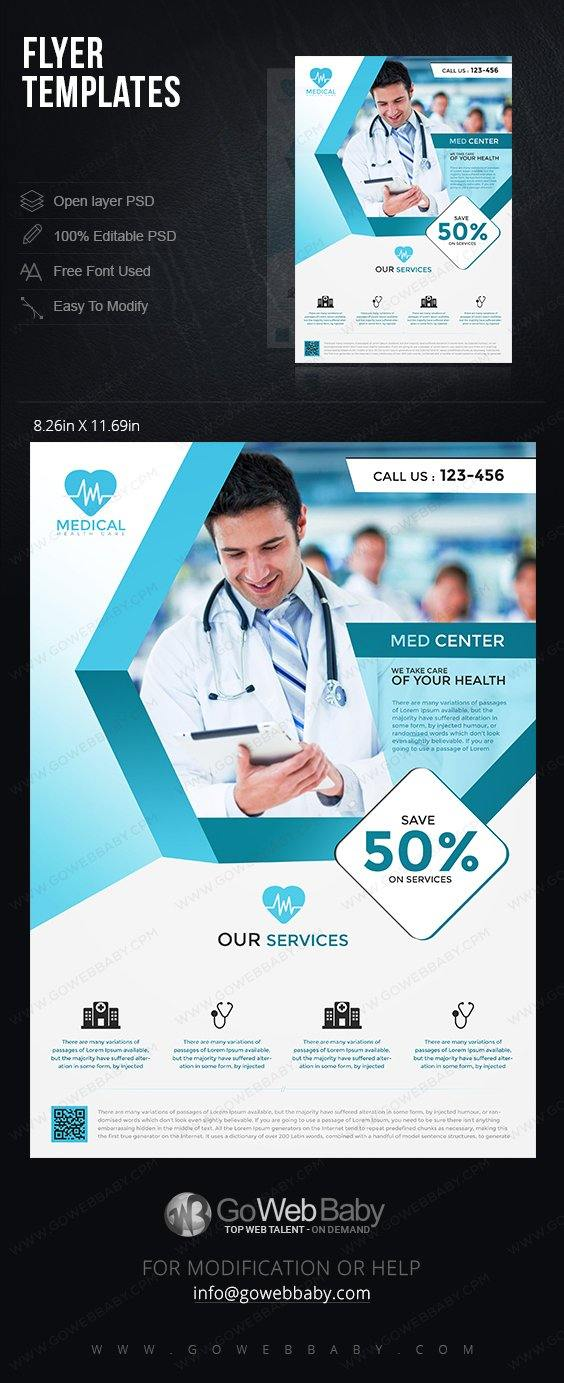 Flyer Templates   Medical Services For Website Marketing