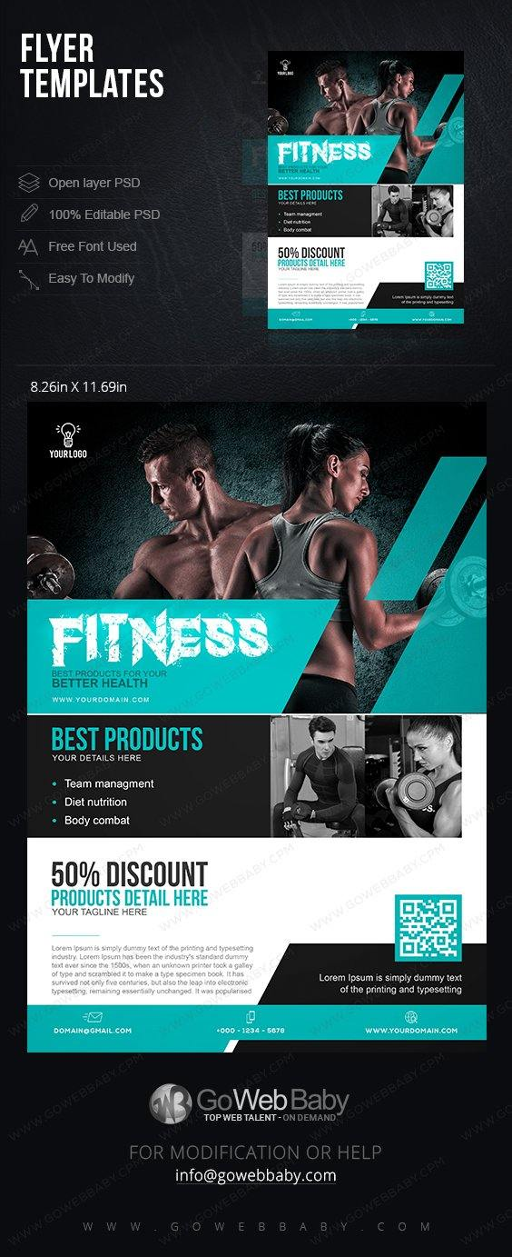 Flyer templates - Health & Fitness For Website Marketing - GoWebBaby.Com