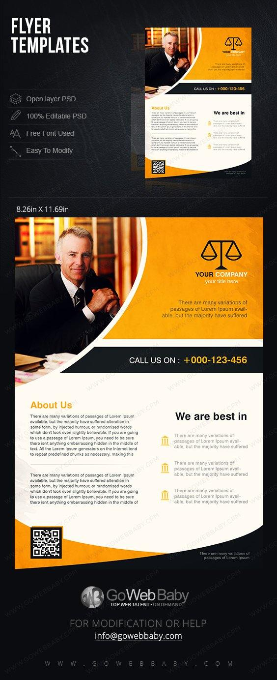 Flyer Templates - Lawyer Services For Website Marketing - GoWebBaby.Com