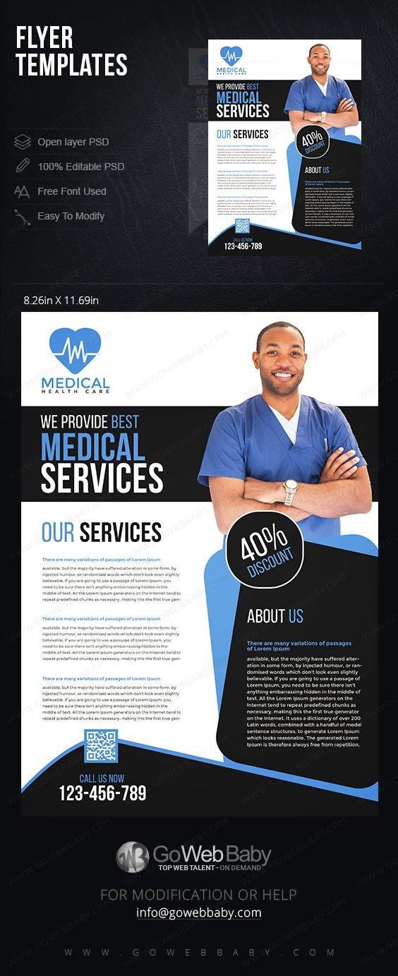 Flyer Templates - Healthcare Services For Website Marketing - GoWebBaby.Com